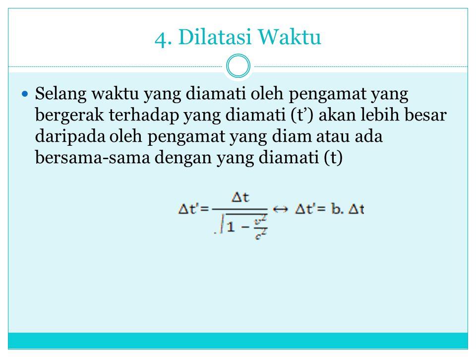 4. Dilatasi Waktu
