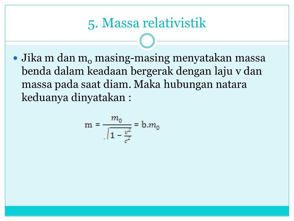 5. Massa relativistik