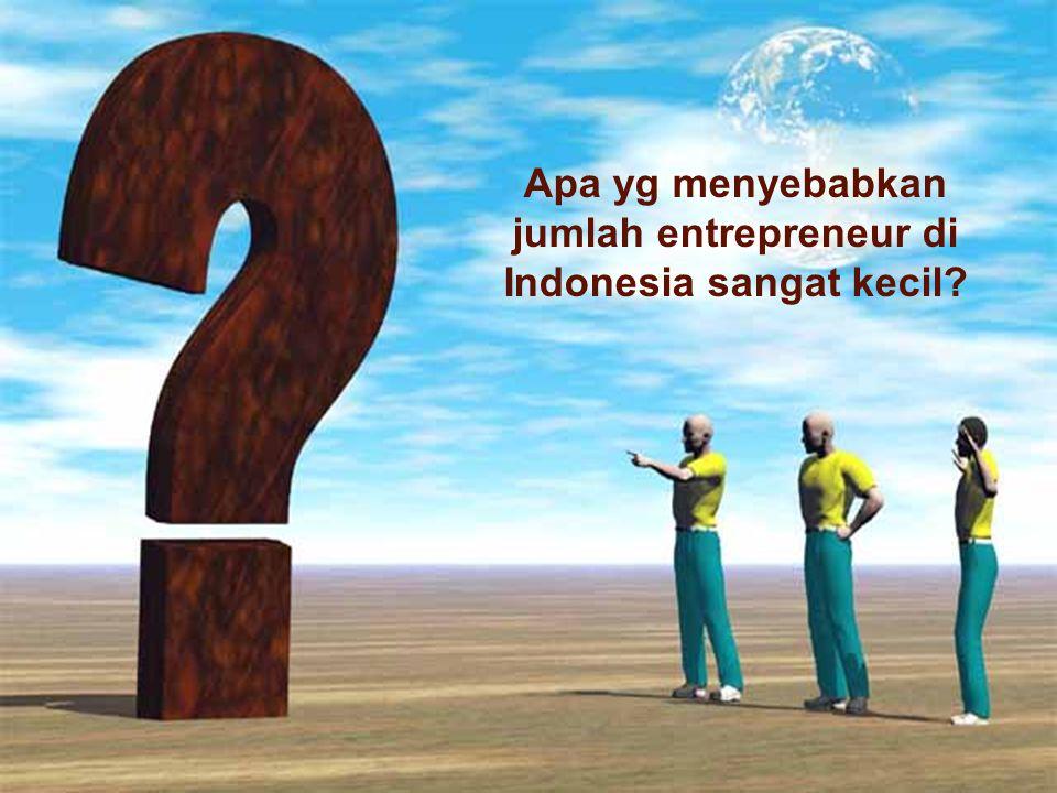 Apa yg menyebabkan jumlah entrepreneur di Indonesia sangat kecil