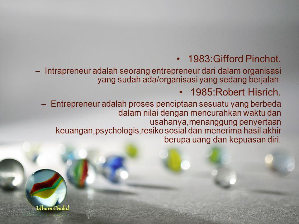 1983:Gifford Pinchot. 1985:Robert Hisrich.