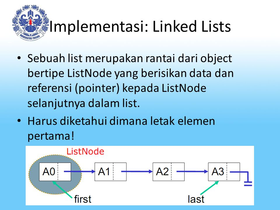 Implementasi: Linked Lists