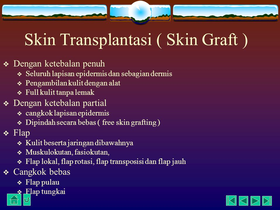 Skin Transplantasi ( Skin Graft )