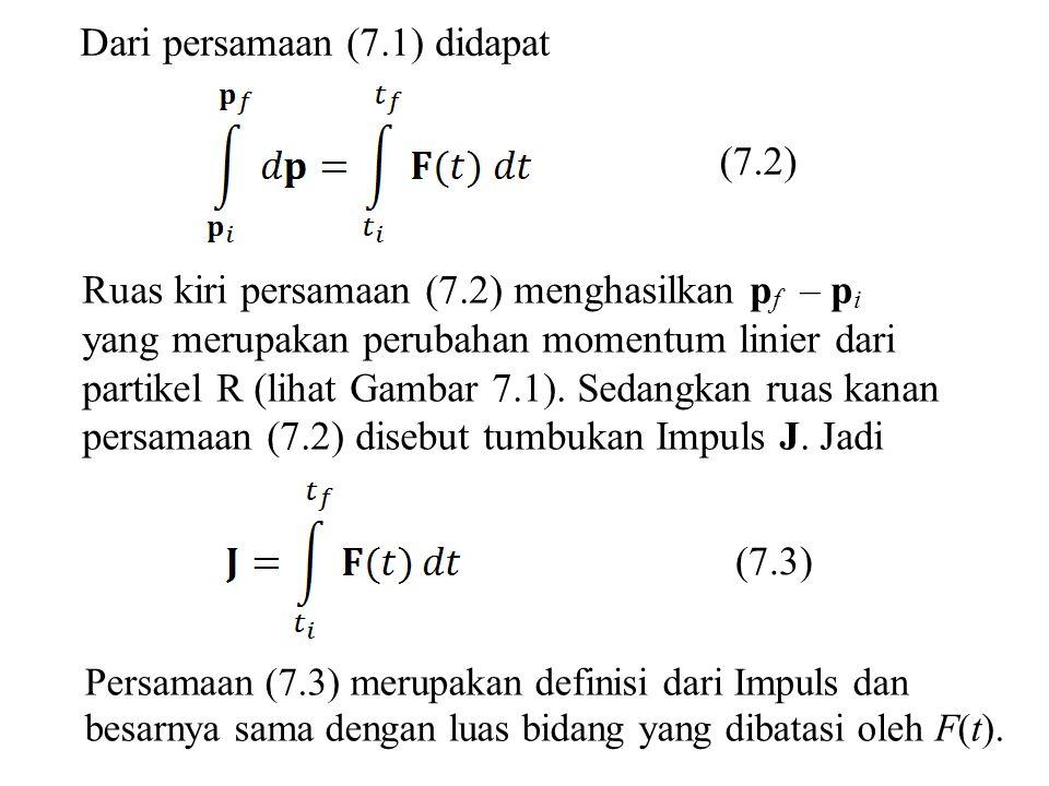 Dari persamaan (7.1) didapat
