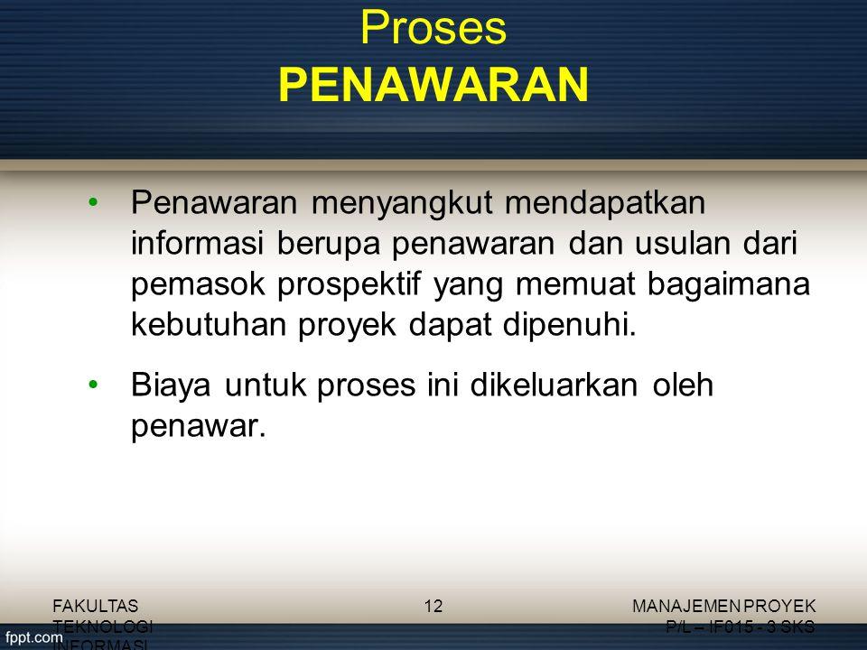 Proses PENAWARAN