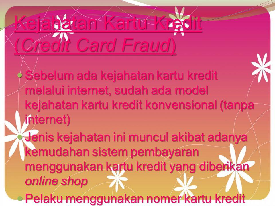 Kejahatan Kartu Kredit (Credit Card Fraud)