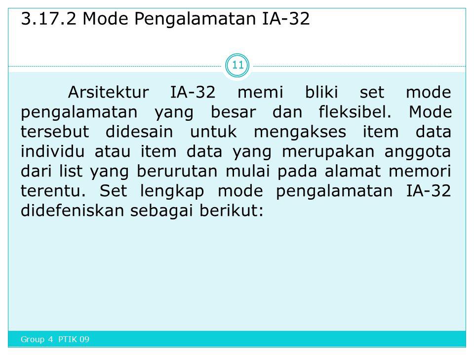 3.17.2 Mode Pengalamatan IA-32