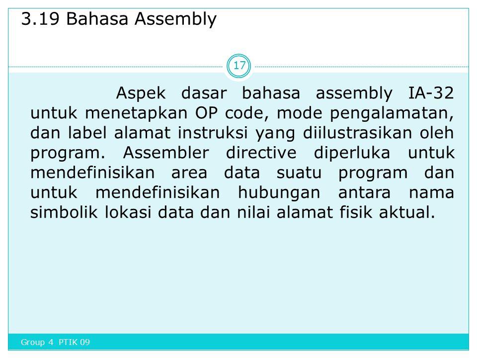 3.19 Bahasa Assembly