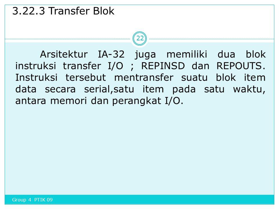 3.22.3 Transfer Blok