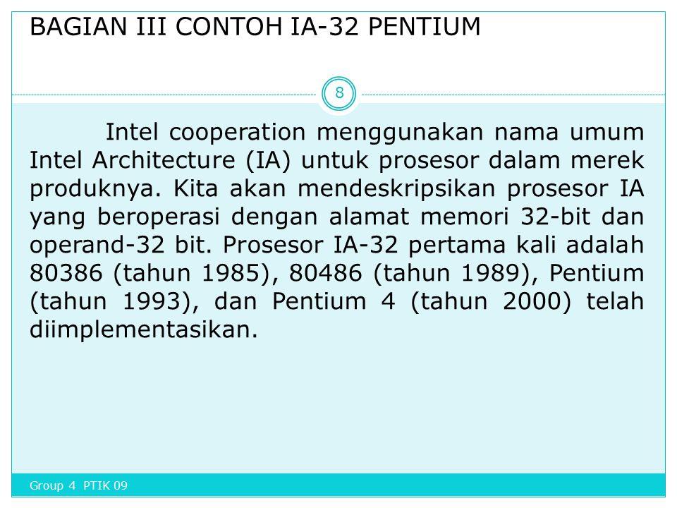 BAGIAN III CONTOH IA-32 PENTIUM