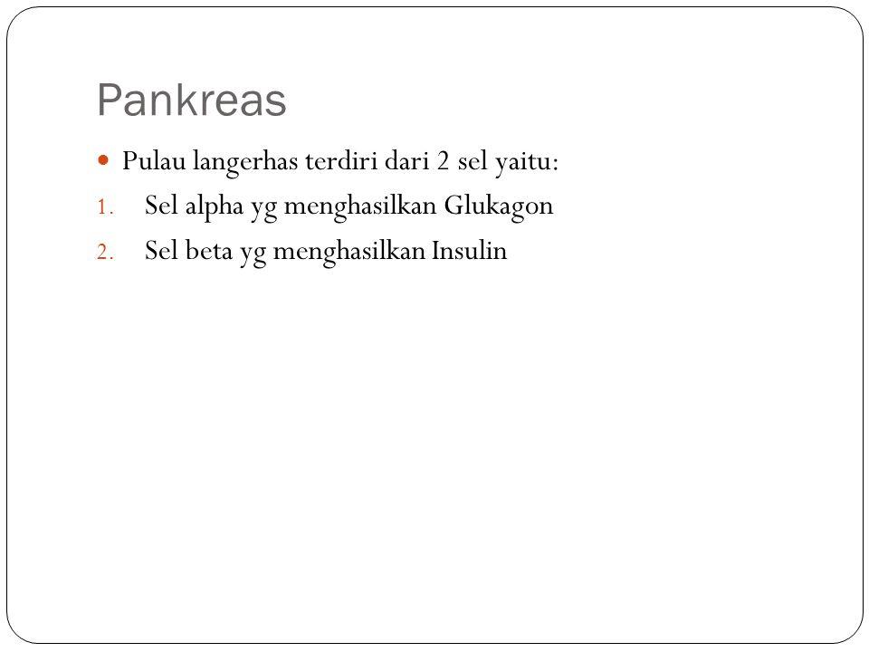 Pankreas Pulau langerhas terdiri dari 2 sel yaitu: