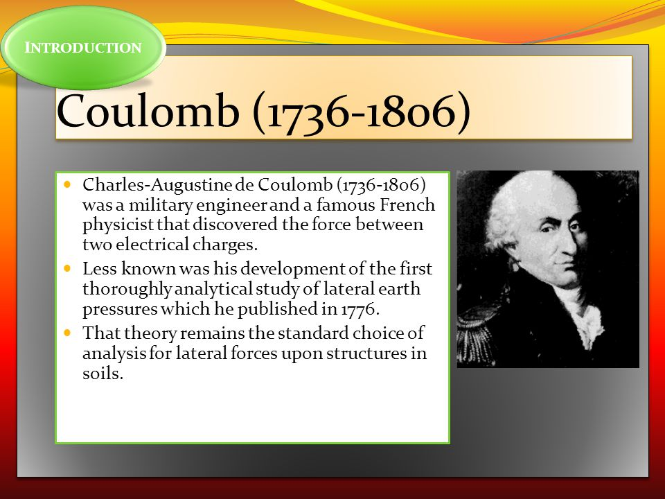 INTRODUCTION Coulomb (1736-1806)