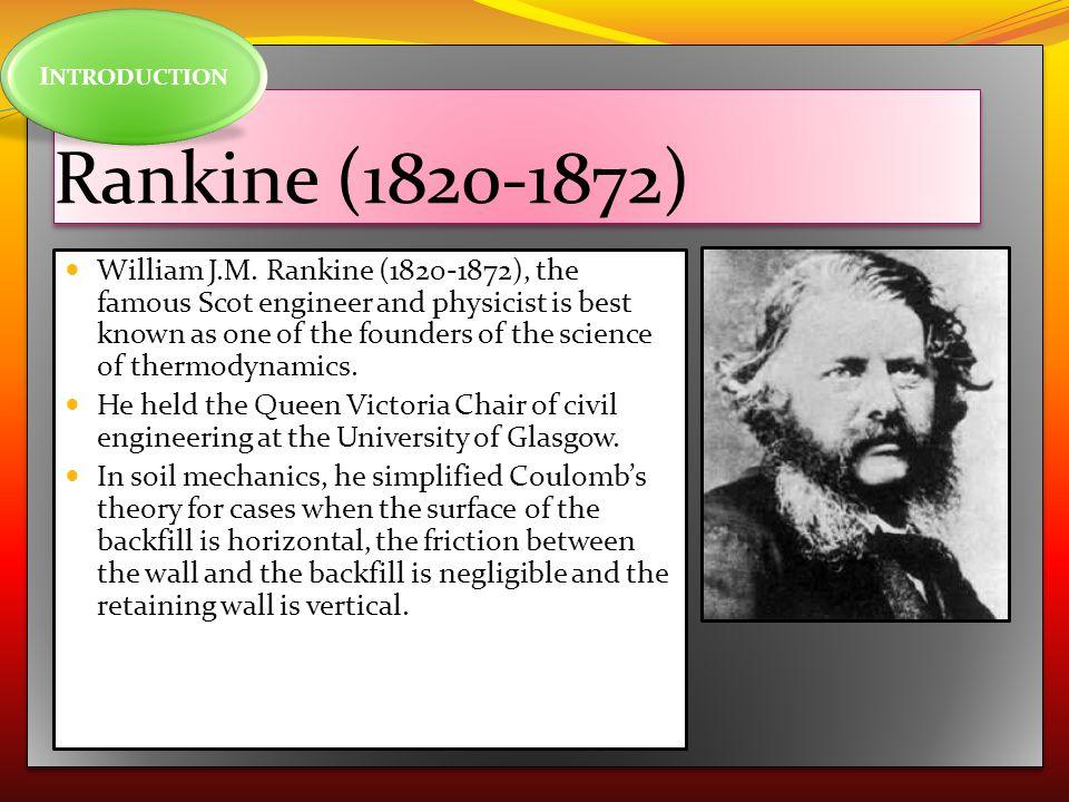 INTRODUCTION Rankine (1820-1872)