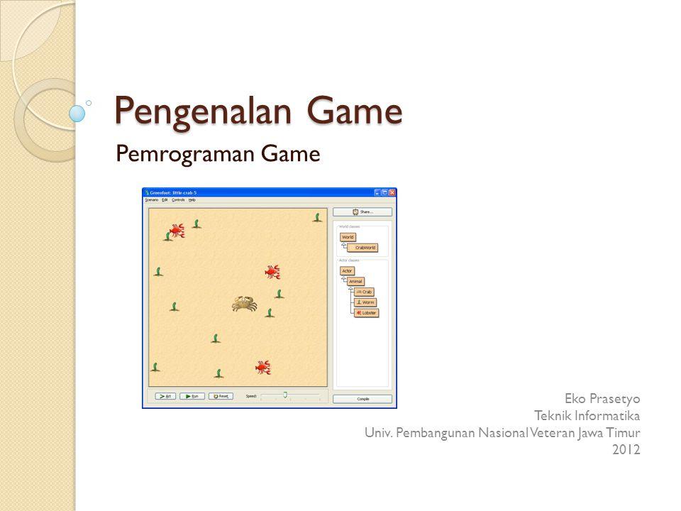 Pengenalan Game Pemrograman Game Eko Prasetyo Teknik Informatika