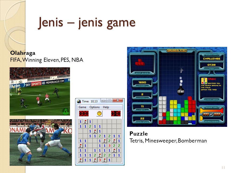 Jenis – jenis game Olahraga FIFA, Winning Eleven, PES, NBA Puzzle