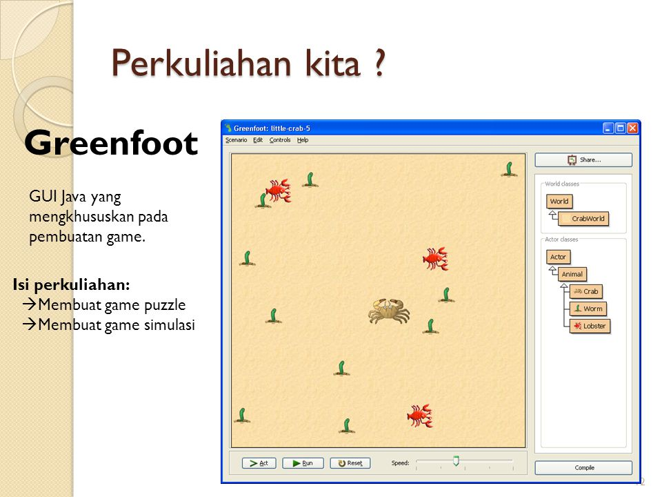 Perkuliahan kita Greenfoot