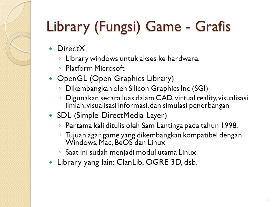 Library (Fungsi) Game - Grafis