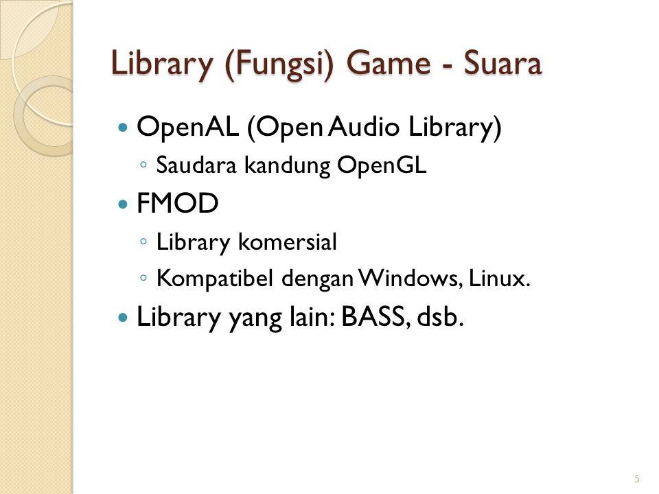 Library (Fungsi) Game - Suara