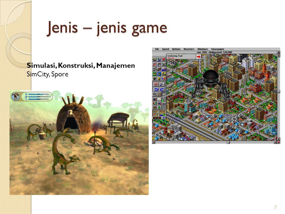 Jenis – jenis game Simulasi, Konstruksi, Manajemen SimCity, Spore