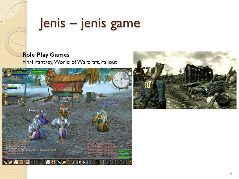 Jenis – jenis game Role Play Games