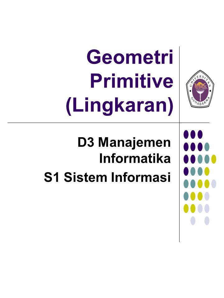 Geometri Primitive (Lingkaran)