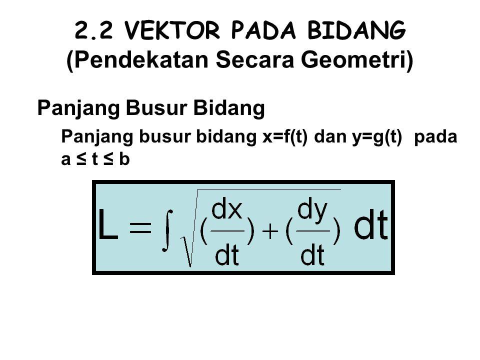 2.2 VEKTOR PADA BIDANG (Pendekatan Secara Geometri)