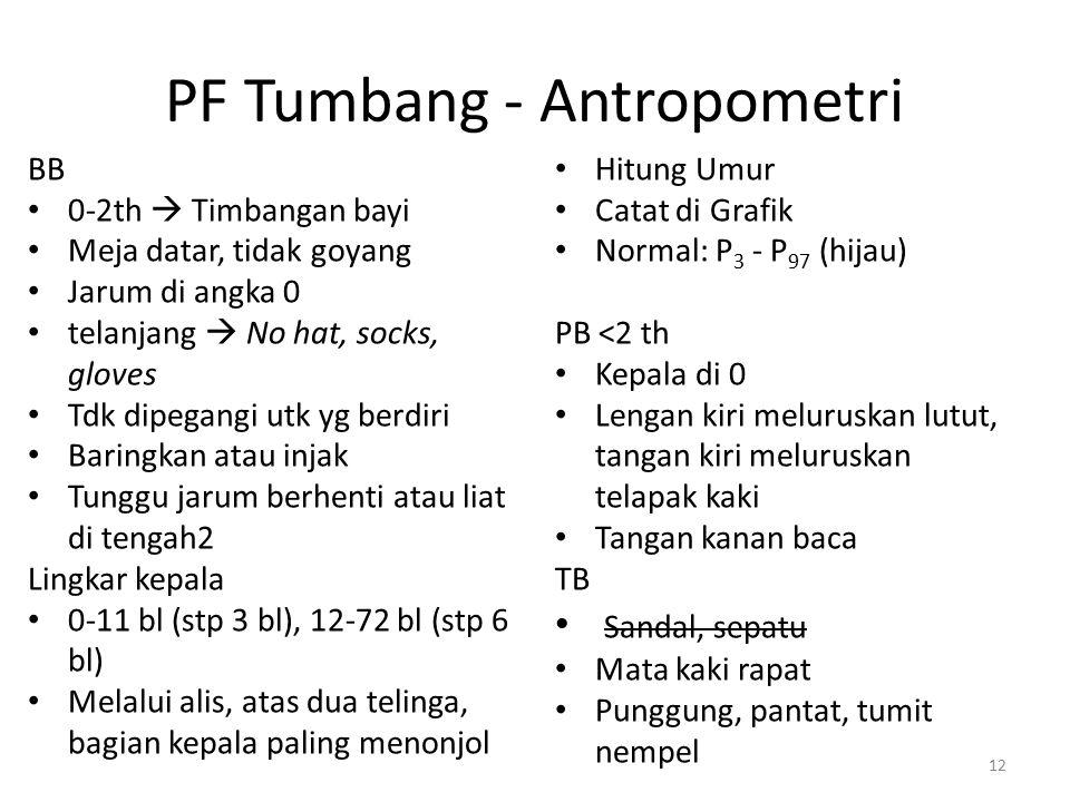 PF Tumbang - Antropometri