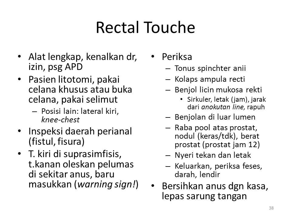 Rectal Touche Alat lengkap, kenalkan dr, izin, psg APD