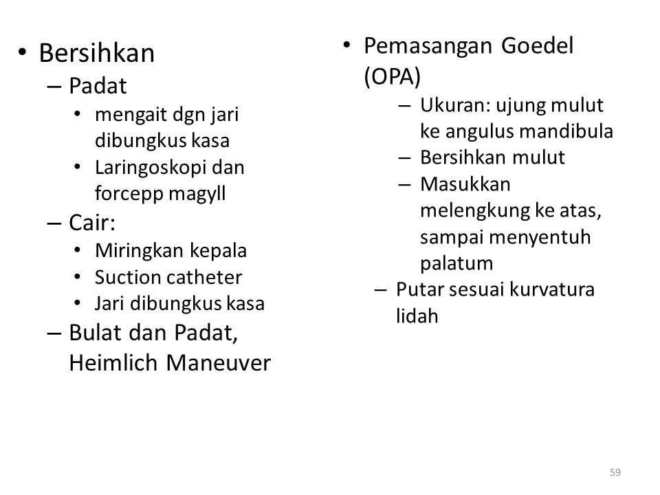 Bersihkan Pemasangan Goedel (OPA) Padat Cair: