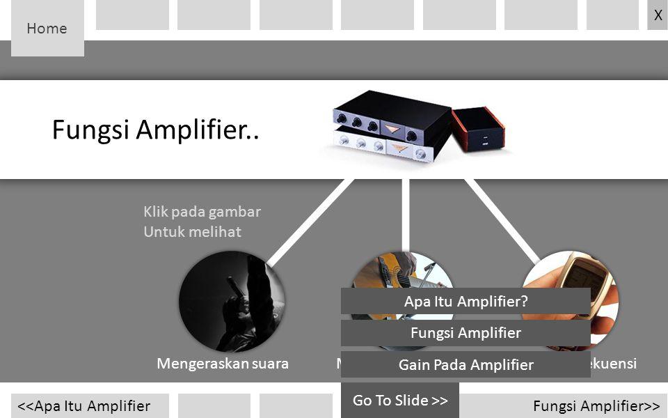 Fungsi Amplifier.. Home X Klik pada gambar Untuk melihat