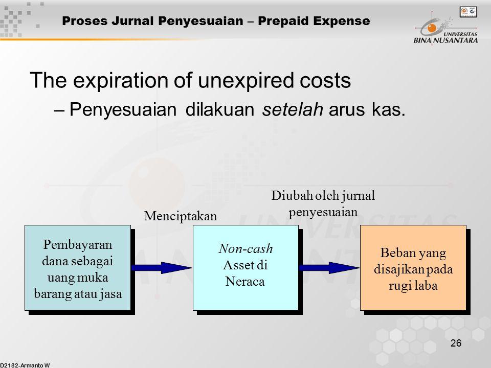 Proses Jurnal Penyesuaian – Prepaid Expense