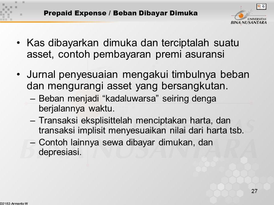 Prepaid Expense / Beban Dibayar Dimuka
