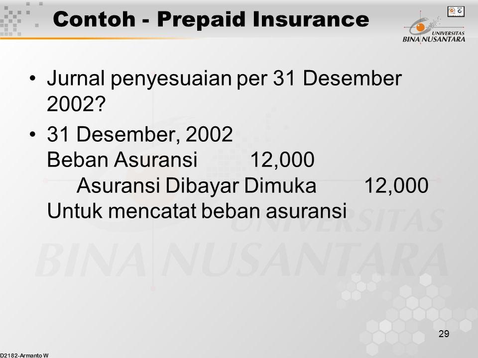 Contoh - Prepaid Insurance