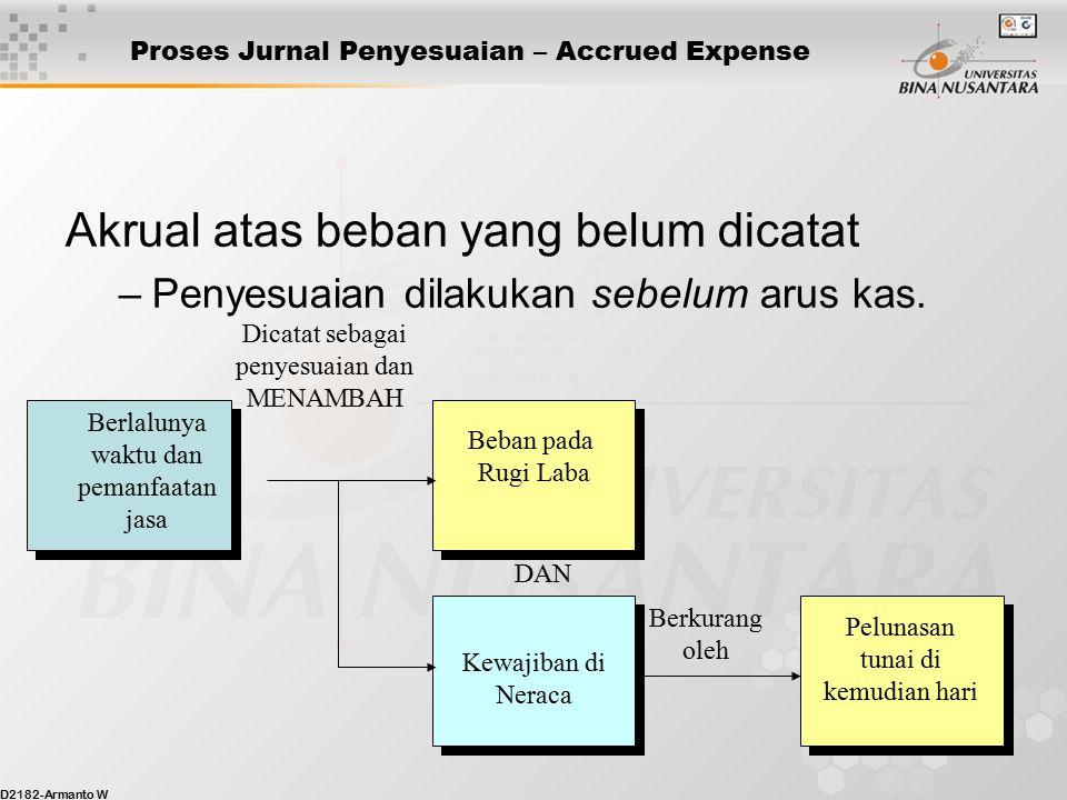 Proses Jurnal Penyesuaian – Accrued Expense