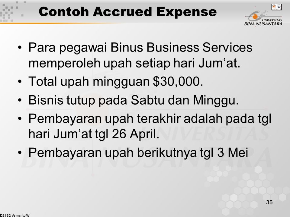Contoh Accrued Expense