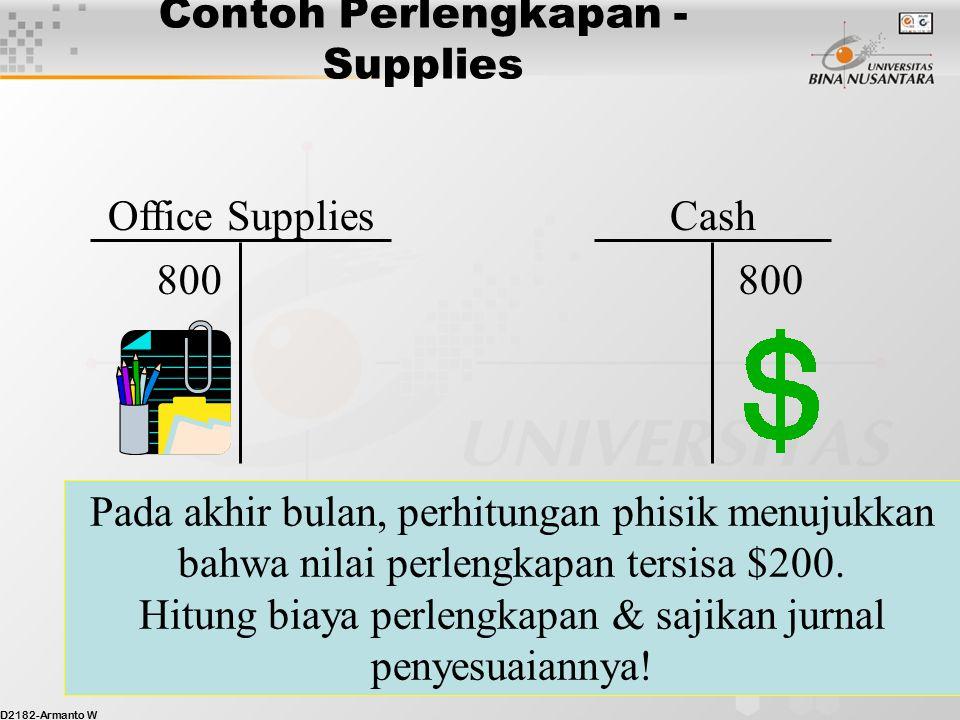 Contoh Perlengkapan - Supplies