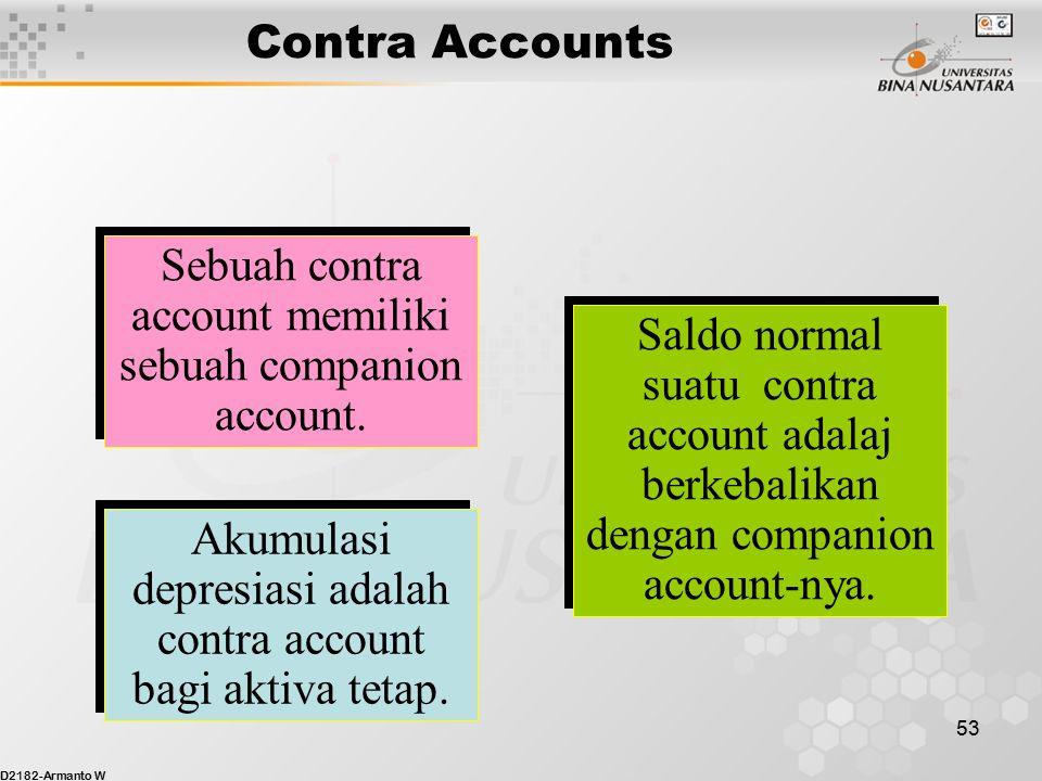 Sebuah contra account memiliki sebuah companion account.