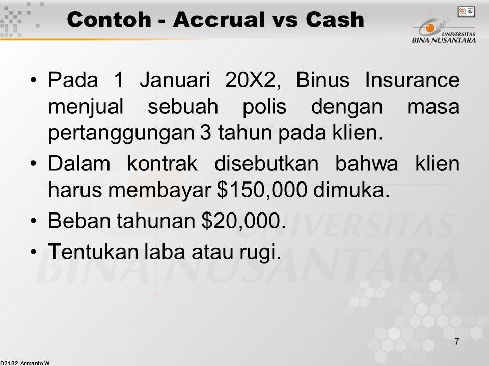 Contoh - Accrual vs Cash