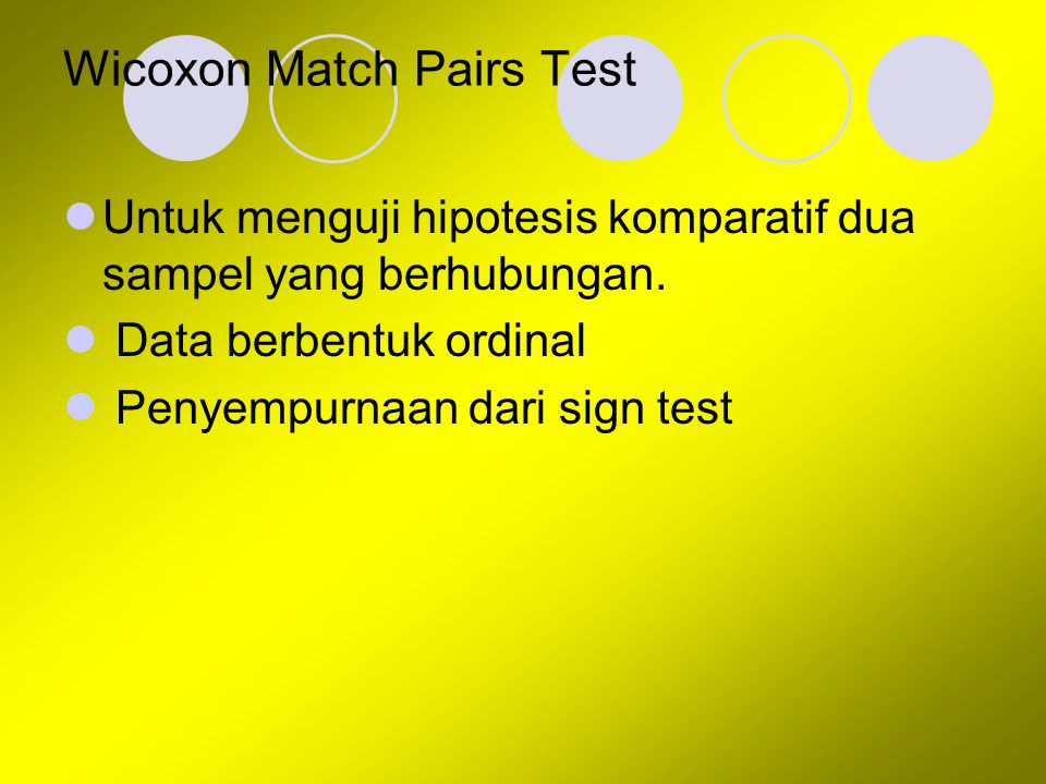 Wicoxon Match Pairs Test