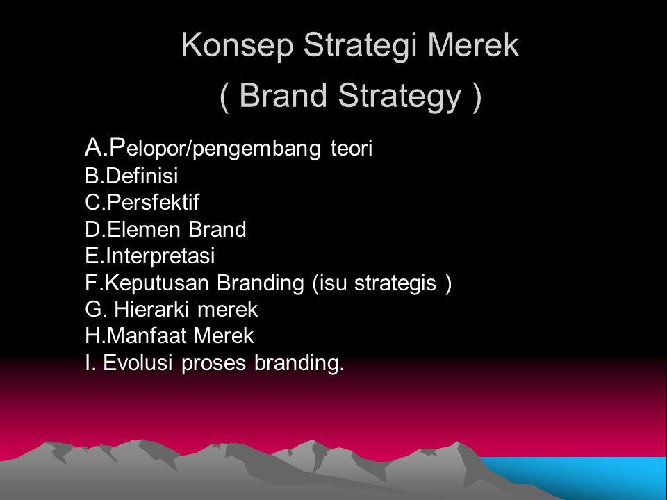 Konsep Strategi Merek ( Brand Strategy )