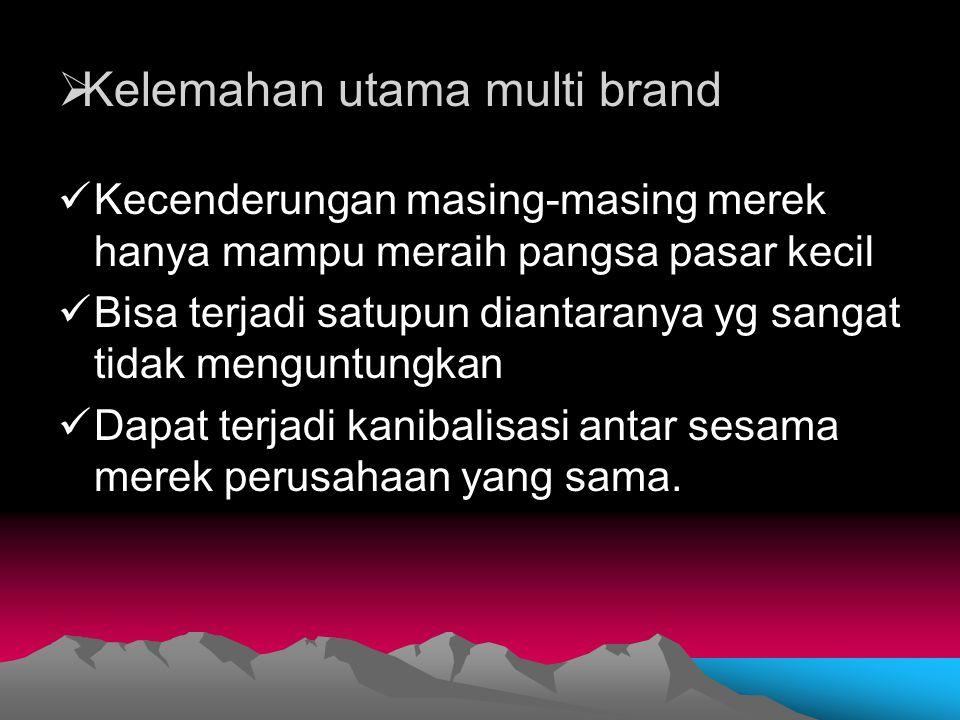 Kelemahan utama multi brand