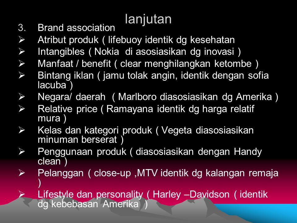 lanjutan Brand association