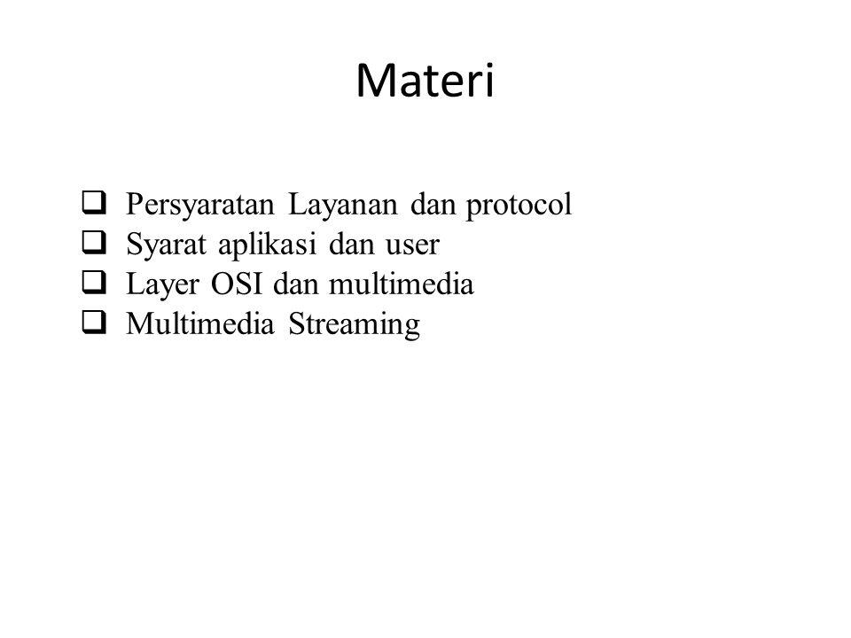Materi Persyaratan Layanan dan protocol Syarat aplikasi dan user