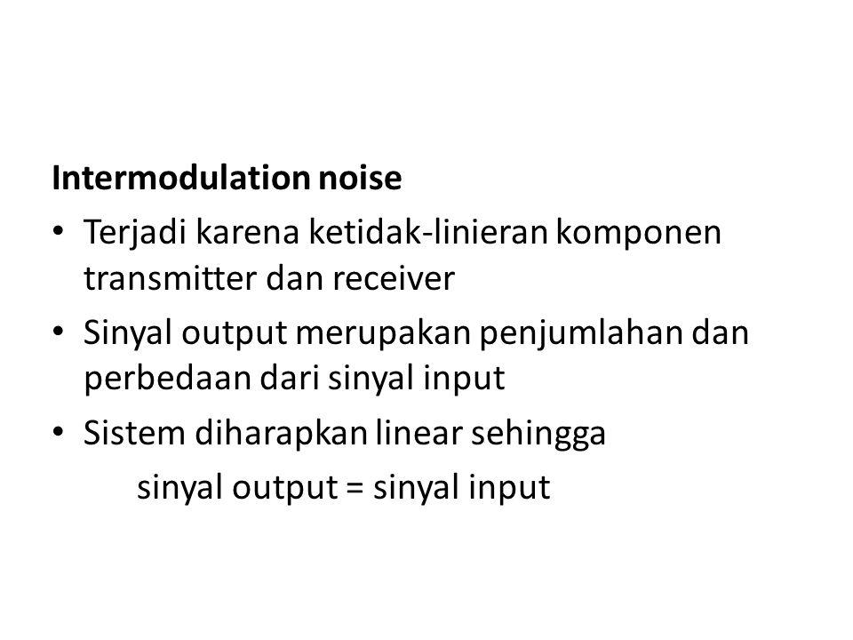 Intermodulation noise