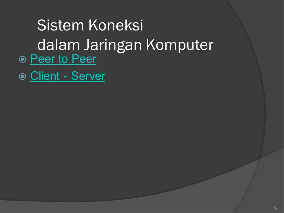 Sistem Koneksi dalam Jaringan Komputer