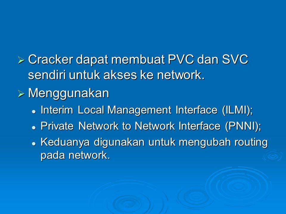 Cracker dapat membuat PVC dan SVC sendiri untuk akses ke network.