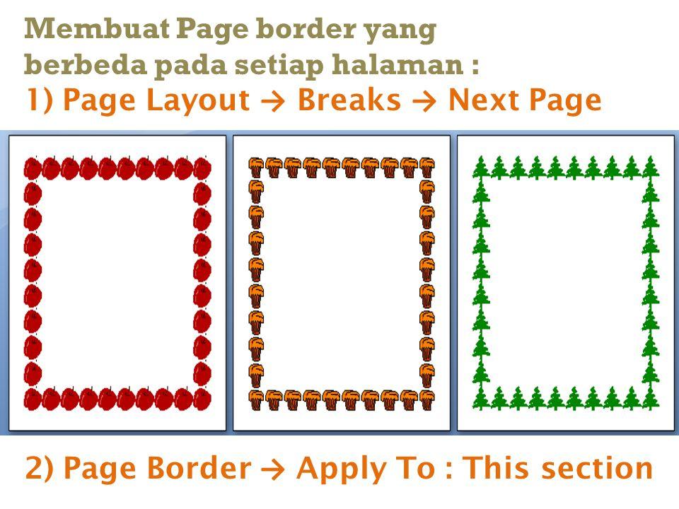 Membuat Page border yang