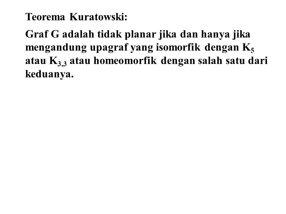 Teorema Kuratowski: