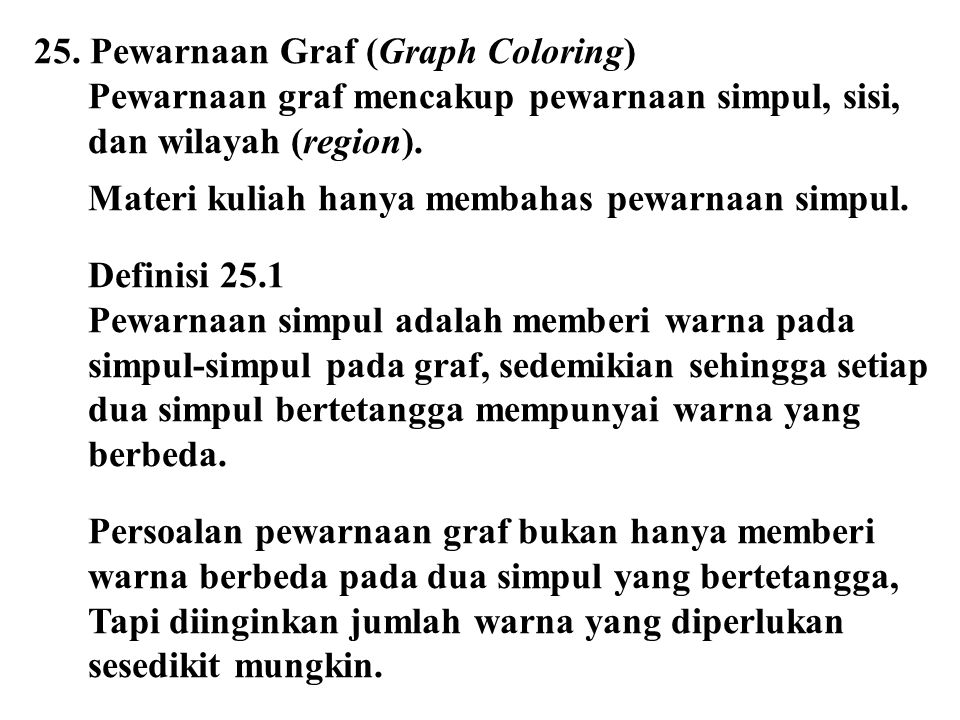 25. Pewarnaan Graf (Graph Coloring)