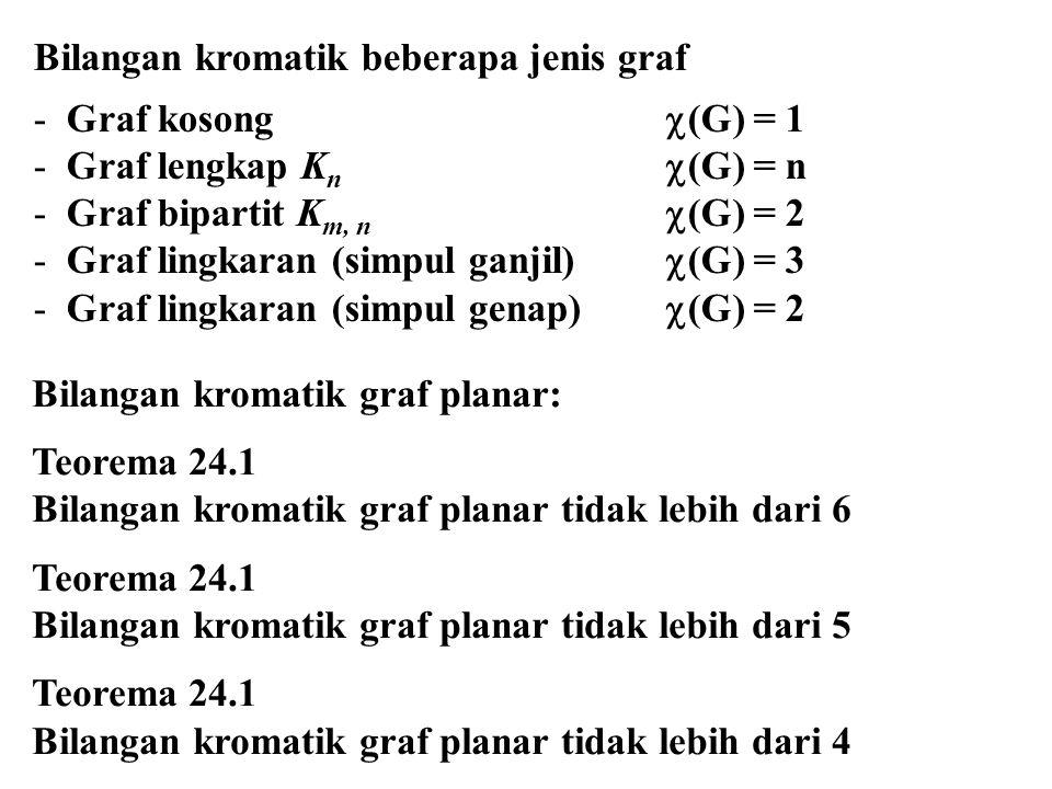 Bilangan kromatik beberapa jenis graf