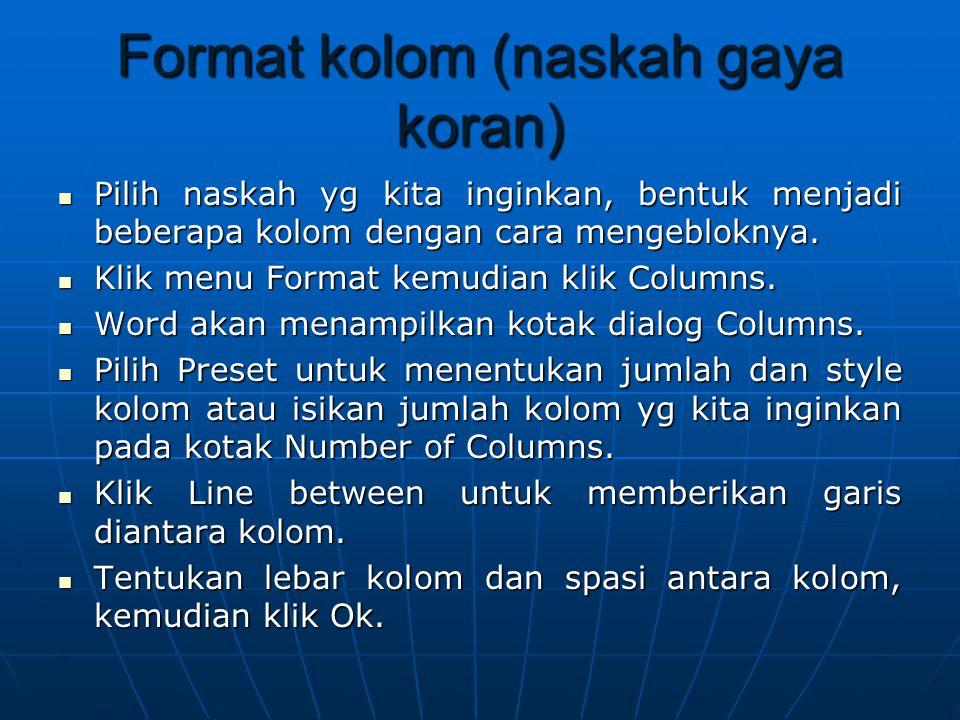 Format kolom (naskah gaya koran)